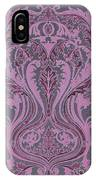 French Brocade Fleur De Lis. Mauve And Burgundy.  IPhone Case