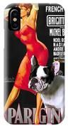 French Bulldog Art - Una Parigina Movie Poster IPhone Case