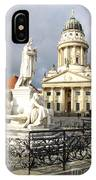 French Cathedral And Statue Gendarmenmarkt Germany IPhone Case