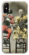 French Clown Musicians Vintage Art Reproduction Tint IPhone Case