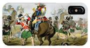 French Cuirassiers At The Battle IPhone Case