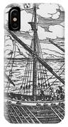 French Galley Operating In The Ports Of The Levant Since Louis Xi  IPhone Case