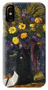 French Marigold Purple Daisies And Golden Sheaves IPhone Case