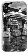 French Market Lights Mono IPhone Case