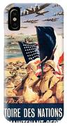 French Propaganda Poster Published In Algeria From World War II 1943 IPhone Case