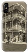 French Quarter Afternoon Sepia IPhone Case