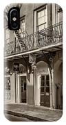 French Quarter Art And Artistry Sepia IPhone Case