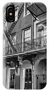 French Quarter Flair Bw IPhone Case