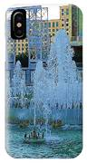 French Quarter Water Fountain IPhone Case