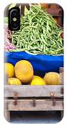 Fresh Organic Fruits And Vegetables At A Street Market IPhone Case