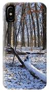 Fresh Snow In The Woods IPhone Case