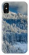 Fresh Snow On The Mountain IPhone Case