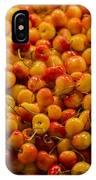 Fresh Yellow Cherries IPhone Case