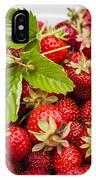 Freshly Picked Strawberries IPhone Case