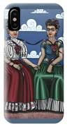 Frida Beside Myself IPhone Case