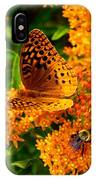 Fritillary On Butterfly Weed IPhone Case