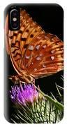 Fritillary On Thistle IPhone Case