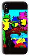 Frog Family Hanging Out On A Limb3 IPhone Case