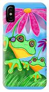 Froggies And Flowers IPhone Case