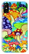 Frogs And Magic Mushrooms IPhone Case