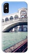 From A Gondola Near Rialto Bridge IPhone Case