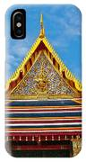 Front Of Royal Temple At Grand Palace Of Thailand In Bangkok IPhone Case