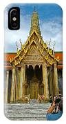 Front Of Thai-khmer Pagoda At Grand Palace Of Thailand In Bangkok IPhone Case