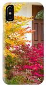 Front Yard Autumn Decor, Quincy California IPhone Case