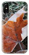 Frosted Leafs IPhone Case
