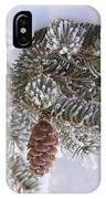 Frosted Pine Tree And Cones 1 IPhone Case