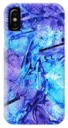 Frozen Castle Window Blue Abstract IPhone Case