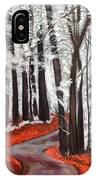 Frosty Autumn IPhone Case