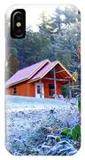 Frosty Cabin IPhone Case