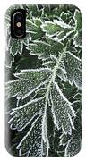 Frosty Leaves Macro IPhone Case
