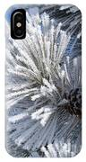 Frosty Pine Cone 2 IPhone Case