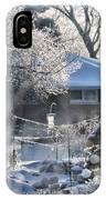 Frosty Winter Window IPhone Case