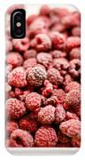 Frozen Raspberries IPhone Case