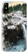 Frozen Snoqualmie Falls IPhone Case