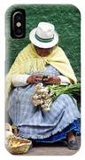 Fruit And Vegetable Vendor Cuenca Ecuador IPhone Case