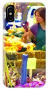 Fruit And Vegetable Vendor Roadside Food Stall Bazaars Grocery Market Scenes Carole Spandau IPhone Case