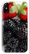 Fruit Iv - Strawberries - Blackberries IPhone Case