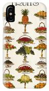 Fruit Lovers Panel 1888 IPhone Case