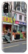 Fruit Shop And Street Scene Shanghai China IPhone Case