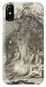 Fuegans In Their Hut, 18th Century IPhone Case