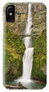 Full View Of Multnomah Falls In The Columbia River Gorge Of Oregon IPhone Case