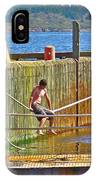 Fun At The Ferry Dock On Brier Island In Digby Neck-ns IPhone Case
