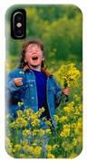 Fun Picking Flowers IPhone Case
