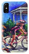 Fun Time In Bicycling IPhone Case