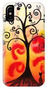 Fun Tree Of Life Impression Iv IPhone Case