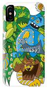 Funky Animals Nature Doodle IPhone Case